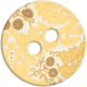 Cambodia Button- Cream & Yellow & Brown Floral