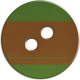 Cambodia Button- Green & Brown