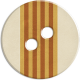 Cambodia Button- Brown & Tan & Cream Striped
