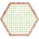 Cambodia Grid Tag- Hexagon Grunge