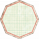 Cambodia Grid Tag- Octagon Grunge