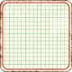 Cambodia Grid Tag- Square Rounded Corners Grunge