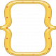 Cheer Bracket Frame- Yellow & Red Polka Dot