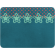 Cheer Journal Card- Blue Green & Red Polka Dot