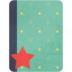 Cheer Journal Card- Green Blue and Red