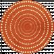 Discover Circle- Redish Orange