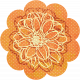 Discover Flower- Orange Floral