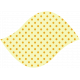 Discover Leaf Large- Cream & Polka Dot