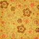 Floral Paper- Orange