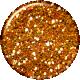 Malaysia Glitter Brad- Orange