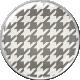 Malaysia Plastic Brad- Grey Pattern