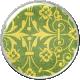 Malaysia Plastic Brad- Floral Green & Yellow