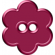 Malaysia Button- Purple Flower