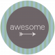 DSF Aug 2013 Blog Train Mini Kit- Awesome Wordart