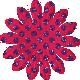 DSF Aug 2012- Red & Purple Glitter Flower
