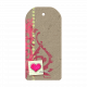 Chipboard Heart Tag