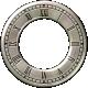 Clock- Silver With Roman Numerals