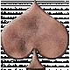 Metal Card Shapes- Spade Pink