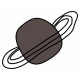 Outer Space Ringed Planet- Brown