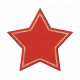 Red Chipboard Star