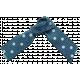 Khaki Scouts Bow- Blue Polka Dot