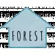 Khaki Scouts Label- Forest