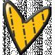 Pencil- Orange Heart Sticker