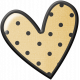 Pencil- Polka Dot Heart Sticker