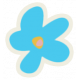 Mix & Match Blue Flower Sticker