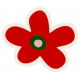 Mix & Match Red Flower Sticker