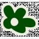 Mix & Match Green Flower Sticker