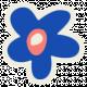 Mix & Match Dark Blue Flower Sticker