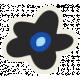 Mix & Match Black Flower Sticker