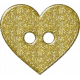 Gold Glitter Heart Button