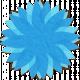 Brighten Up Paper Flower- Blue