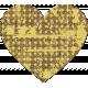Yellow Chipboard Heart