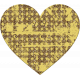 Yellow Chipboard Heart