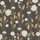 Floral 44 Paper - Gray, White & Tan