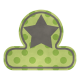 Green Tab with Star
