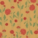 Floral 44 Paper- Red, Green & Tan