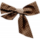 Lake District- Brown Polka Dot Bow