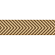 Fat Ribbon- Chevron- Brown