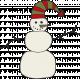 Winter Plaid- Snowman