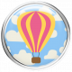 Hot Air Balloon- Balloon Brad- Pink & Yellow