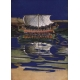 Egypt Illustration- Sail Barge