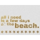 Few Days At The Beach- Golden Ocean Journal Card