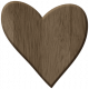 Be Mine- Brown Heart