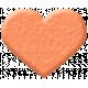 Oceanside Shape- Coral Heart