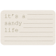 Coastal Label- It's A Sandy Life