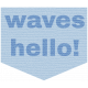 Coastal Label- Waves Hello